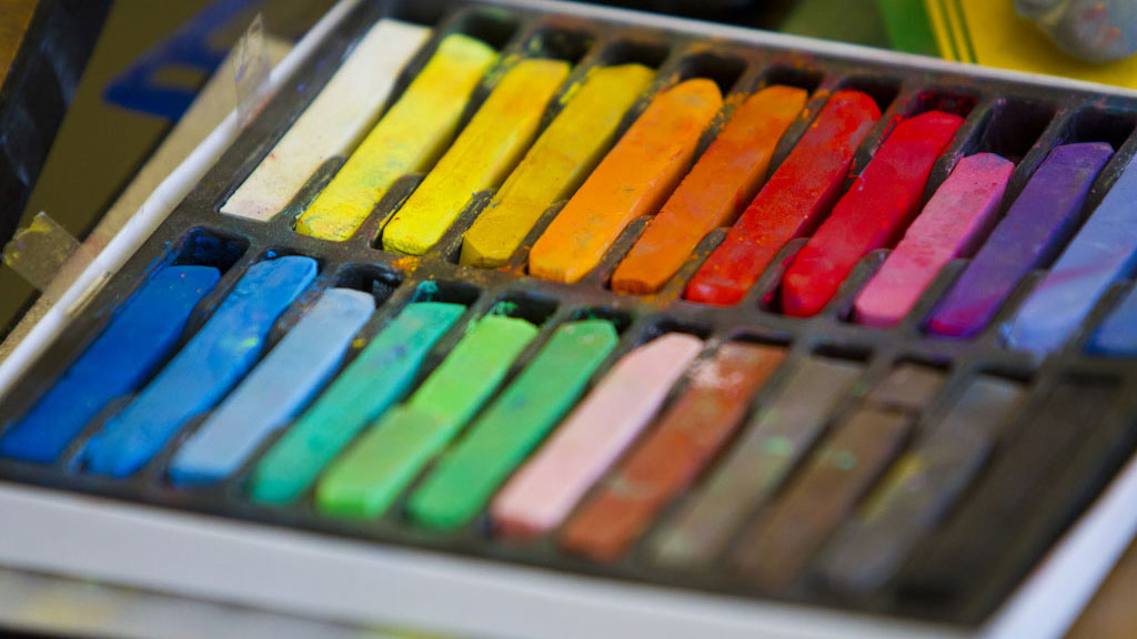 Colored chalk