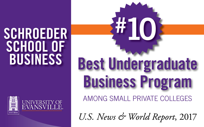 UE's Schroeder School of Business recognized nationally by U.S. News & World Report