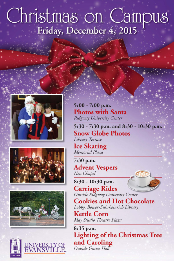 Christmas on Campus flyer. Information appears in news article.