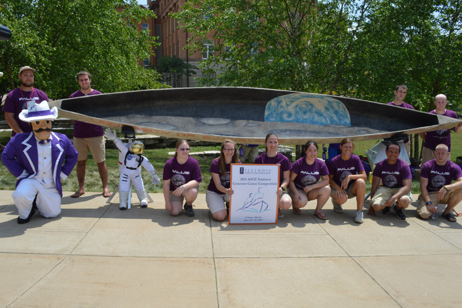 Concrete Canoe Team Wins Innovation Award, Places 10th at Nationals
