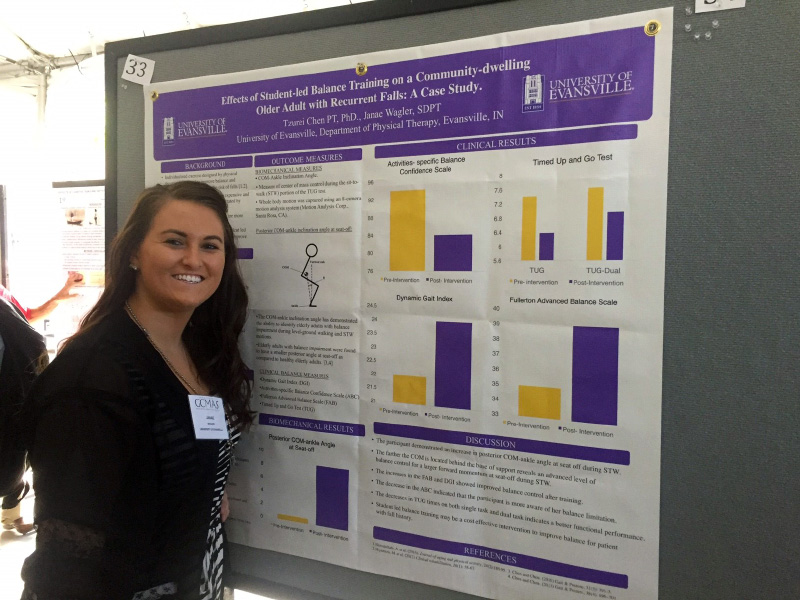 DPT student Janae Wagler presents research poster at national conference