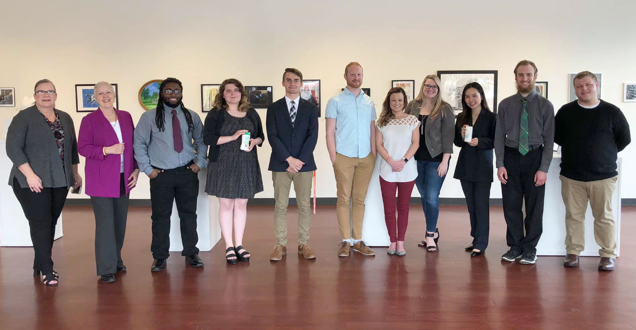 The Department of Art Visual Commuications Design Majors in the Melvin Peterson Gallery