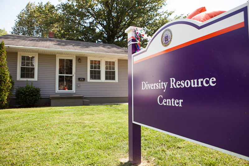 Diversity Resource Center front with sign