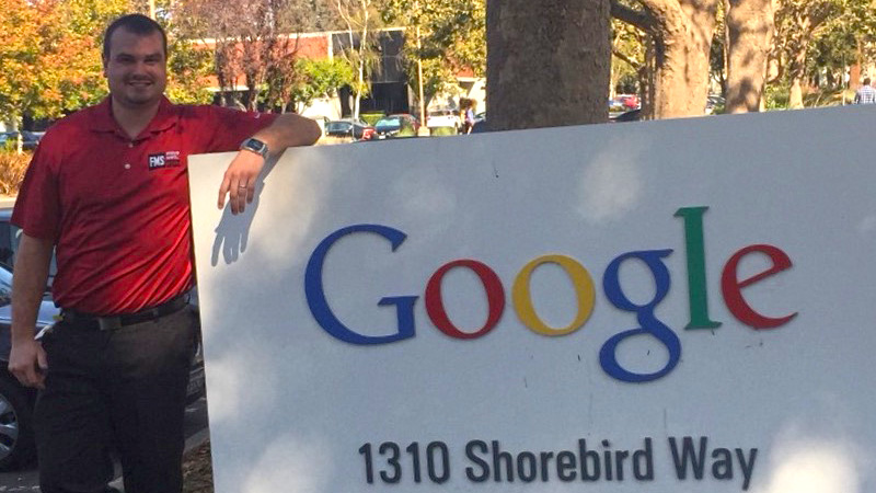 Kyle Matsel visits Google headquarters