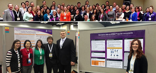 UE's Physical Therapy faculty and students