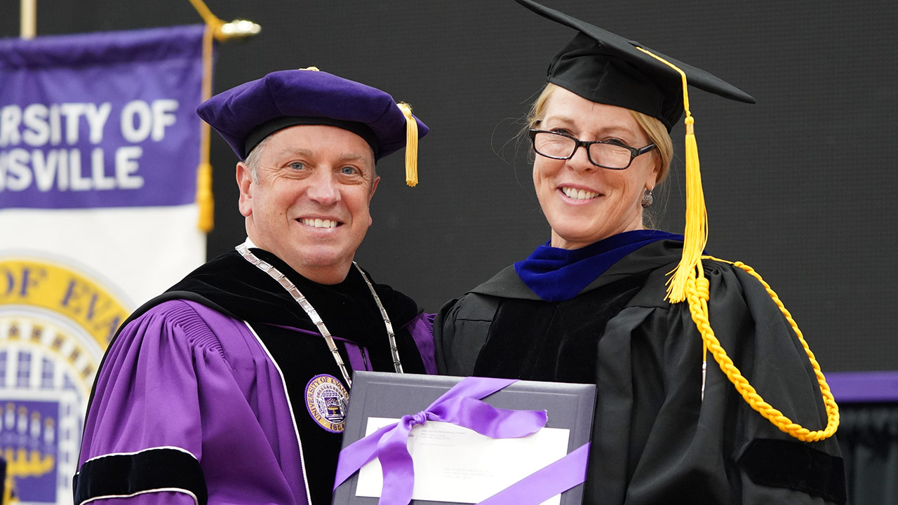 Sharon Gieselmann Receives UE Exemplary Teacher Award