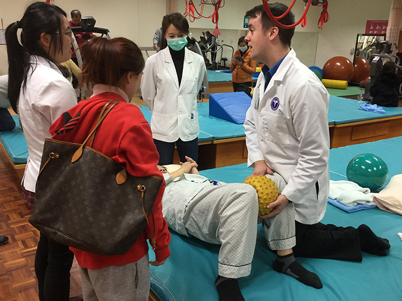 DPT student performs clinical in Taiwan