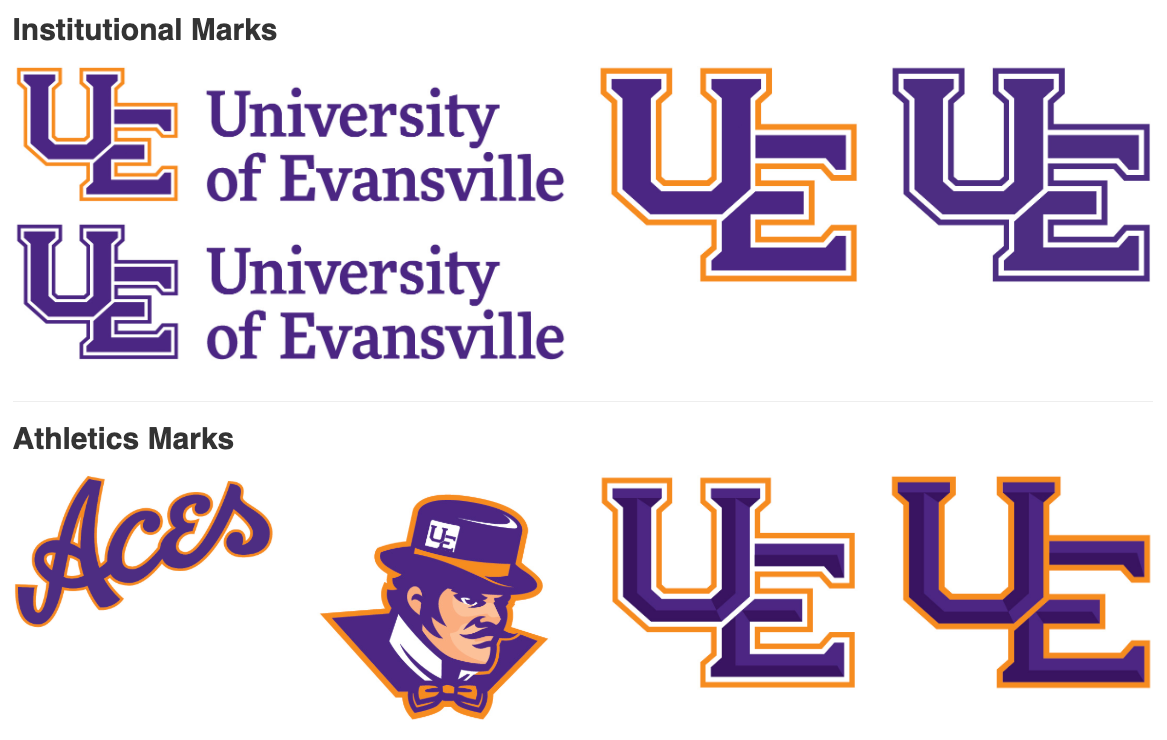 University of Evansville Institutional and Athletics Marks