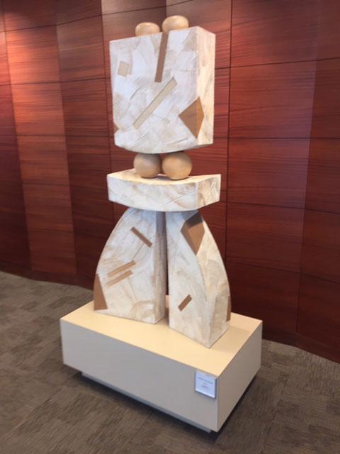 Les Miley: salt-fired sculpture