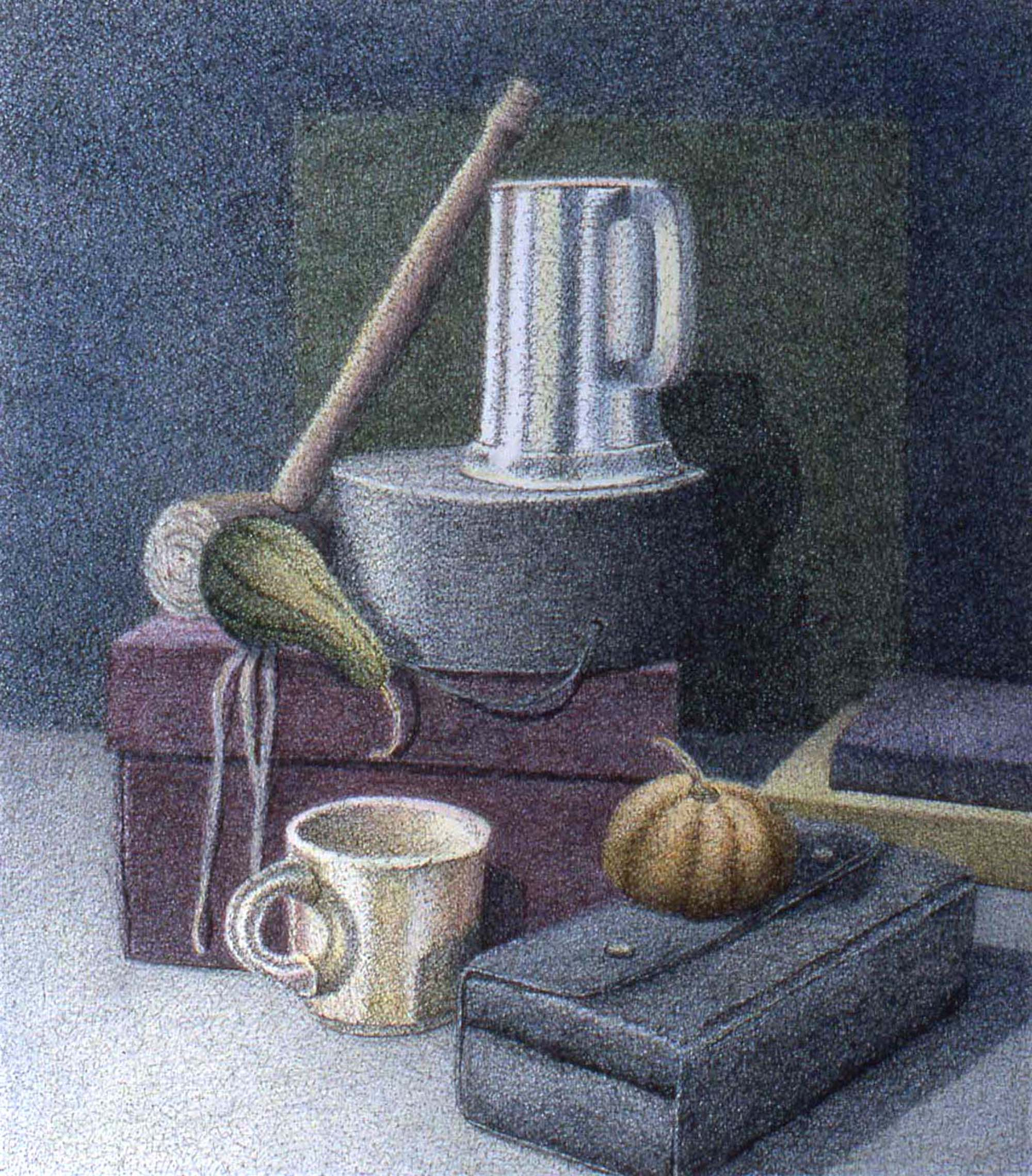 William F. Brown painting of household objects